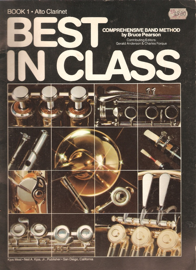 Best In Class Alto Clarinet Book 1 Comprehensive Band Method